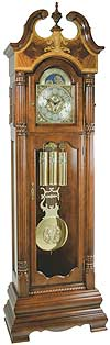 "Hermle 010800-N91161 ""Castleton"" Triple Chime Grandfather Clock, Cherry"