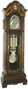 "Hermle 010803-031161 ""Taylor"" Triple Chime Grandfather Clock, Walnut finish"
