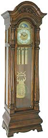 "Hermle 010920-031161 ""Salerno"" Triple Chime Grandfather Clock, Walnut"
