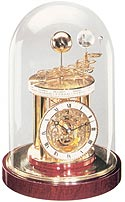 Hermle windup astrolabium and tellulurium clocks