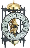 "Hermle 23001-000711 ""Bonn"" Windup Antique Style Skeleton Table Clock, Black"