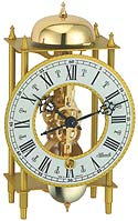 "Hermle 23004-000711 ""Lahr"" Windup Antique Style Skeleton Table Clock, Brass"