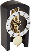 "Hermle 23015-740721 ""Patterson"" Windup Skeleton Table Clock, Black"