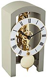 "Hermle 23015-D10721 ""Patterson"" Windup Skeleton Table Clock, Gray"