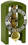 "Hermle 23015-S50721 ""Patterson"" Windup Skeleton Table Clock, Dark Green"