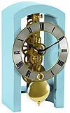 "Hermle 23015-S40721 ""Patterson"" Windup Skeleton Table Clock, Light Blue"