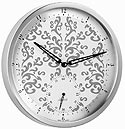 "Hermle 30891-002100 ""Roseberry"" Battery-Operated Stainless Steel Wall Clock with Small Second Hand"