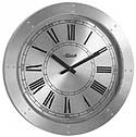 "Hermle 42001 ""Crescent"" Time-Only Battery-Operated Gallery Wall Clock"