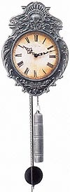 "Hermle 70823-000701 ""Aachen"" Weight-Driven Antique Style Wag-On-Wall Clock, Antique Pewter"