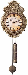 "Hermle 70824-000701 ""Aachen"" Weight-Driven Antique Style Wag-On-Wall Clock, Antique Brass"