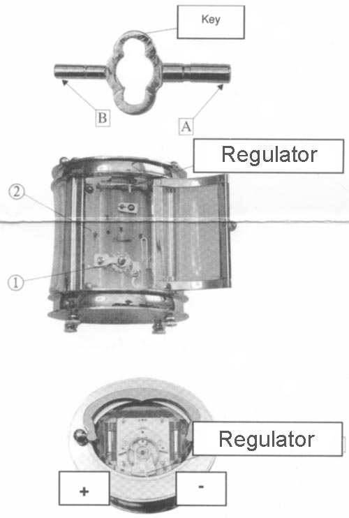 Instructions for carriage clock