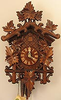 Romba 1250 Bahnhäusle with Maple Leaves One-Day Cuckoo Clock