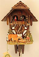 Romba 1311 Horses & Boy One-Day Musical Cuckoo Clock