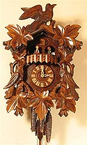 Romba 1343 Birds and Leaves One-Day Musical Cuckoo Clock with Dancers