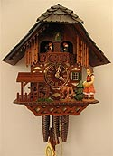 Romba 1385 Feeding Deer One-Day Musical Cuckoo Clock