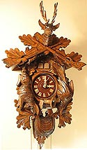 Romba 1420 Hunter One-Day Quail and Cuckoo Clock