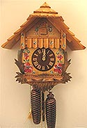 Romba 8210 Chalet with Painted Flowers 8 Day Cuckoo clock