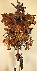 Romba 8233QM Large Bird & Leaf Battery-Operated Cuckoo Clock
