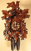 Romba 8240 8-Day Bird and Leaf Cuckoo Clock
