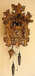 Romba 8250QM Leaves and Dancers Battery-Operated Cuckoo Clock