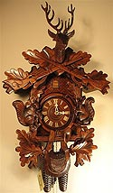 Romba 8261 Squirrel Hunt 8-Day Cuckoo Clock