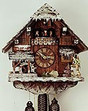 Romba 8318W Winter Scene 8-Day Musical Cuckoo Clock