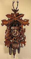 Romba 8330 Before the Hunt 8-Day Musical Cuckoo Clock