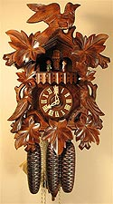 Romba 8343 8-Day Musical Bird & Leaf Cuckoo Clock