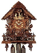 Romba 8347 Vines on Fence 8-Day Musical Cuckoo Clock