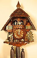 Romba 8362 Woodchopper 8-Day Musical Cuckoo Clock