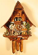 Romba 8367 Large Woodchopper 8-Day Musical Cuckoo Clock