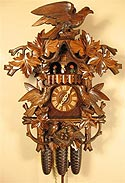 Romba 8388 Hawk and Nest 8-Day Musical Cuckoo Clock