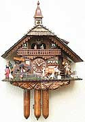 Romba 8393 Farmer Couple 8-Day Musical Cuckoo Clock
