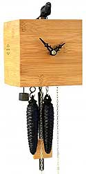 Romba BB11-11 Free Bird One-Day Cuckoo Clock, Natural Finish