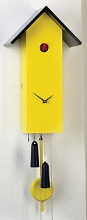 "Romba SL15-8 ""SimpleLine"" One-Day Cuckoo Clock, Yellow"