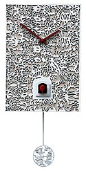 "Romba SNQ1 ""Filigree"" Battery-Operated Cuckoo Clock - White"