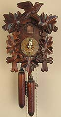 Sternreiter 1200S One-Day Bird and Leaf Cuckoo Clock with Wooden Weights