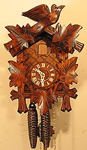 Sternreiter 1200 One-Day Bird and Leaf Cuckoo Clock