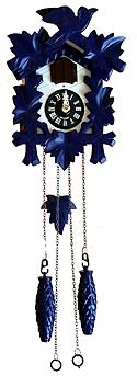 Sternreiter 1201BQM Battery-Operated Blue and White Cuckoo Clock