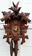 Sternreiter 1209 Carved Bird and Leaves One-Day Cuckoo Clock