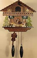 Sternreiter 1316QM Chalet Battery-Operated Cuckoo Clock with Music