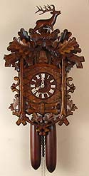 Sternreiter 8224 Deer and Grape Leaves 8 Day Cuckoo clock