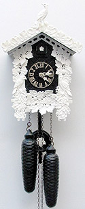 Sternreiter 8226B 8-day Bone Carved Cuckoo Clock, Black
