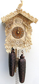 Sternreiter 8226N 8-day Bone Carved Cuckoo Clock, Natural