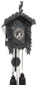 Sternreiter 8227 Arabella 8-day Cuckoo Clock - Black Arenga Wood