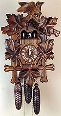 Sternreiter 8301 8-Day Musical Bird & Leaf Cuckoo Clock