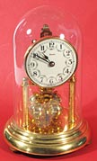 1950s Heco miniature 400 day anniversary clock made by Kern & Sohne in Germany.