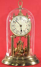 Schatz 400 day clock dated 2-54 (February 1954). Has the special glass dome with the hole in the top.