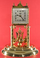 Schatz square dial 400 day clock dated 2 53 (February 1953)